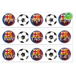 Cenefas - Papel de azúcar FC Barcelona Nº FJ7
