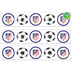 Cenefas - Papel de azúcar Fútbol Atlético del Madrid Nº FJ8