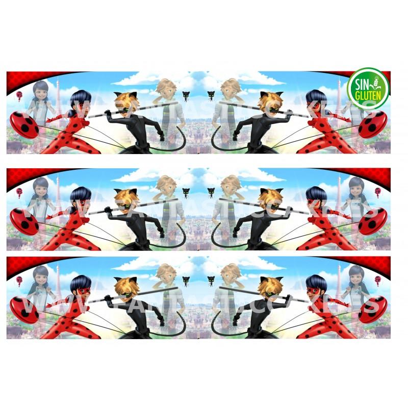 Cenefas - Papel de azúcar LadyBug Nº FJ12