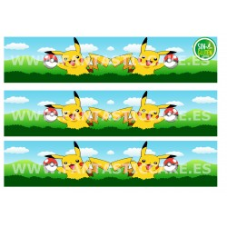 Cenefas - Papel de azúcar Pikachu Nº FJ21