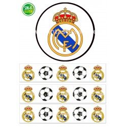 Papel de azúcar y Cenefas Real Madrid Fútbol para tartas