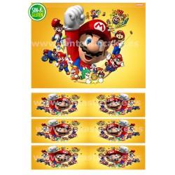 Papel de azúcar Mario Bross...