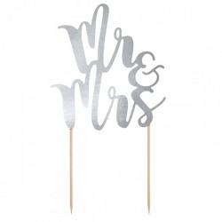 Topper para tarta Mr y Mrs