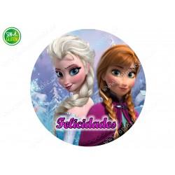 Oblea de Frozen - Anna y...