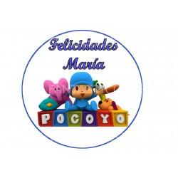 Oblea Pocoyo Nº 824 redonda...