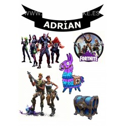 Toppers Fortnite Personalizado