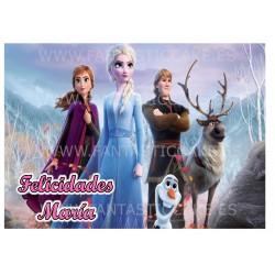 Oblea de Frozen...