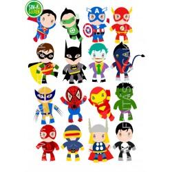 Oblea SuperHéroes chicos Nº...