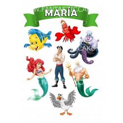 Toppers La Sirenita Personalizado