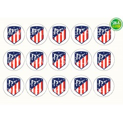 Oblea para Galletas Club Atlético de Madrid - papel de azúcar para Galletas Club Atlético de Madrid - sin gluten