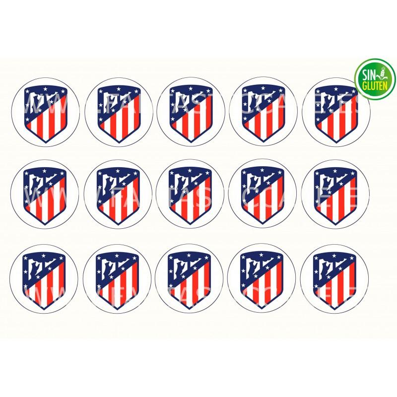 Oblea para Galletas Club Atlético de Madrid - papel de azúcar para Galletas Club Atlético de Madrid - sin gluten