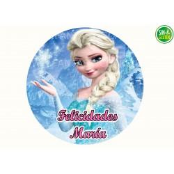 Oblea de Frozen Nº 839 personalizada redonda - Fantastic Cake