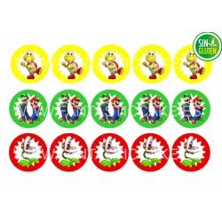 Obleas Mario Bros para Galletas Nº 939