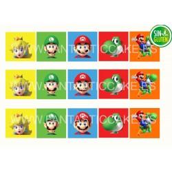 Obleas Mario Bros Galletas Cuadradas Nº 942