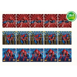 Obleas Cuadradas Spiderman Nº 956
