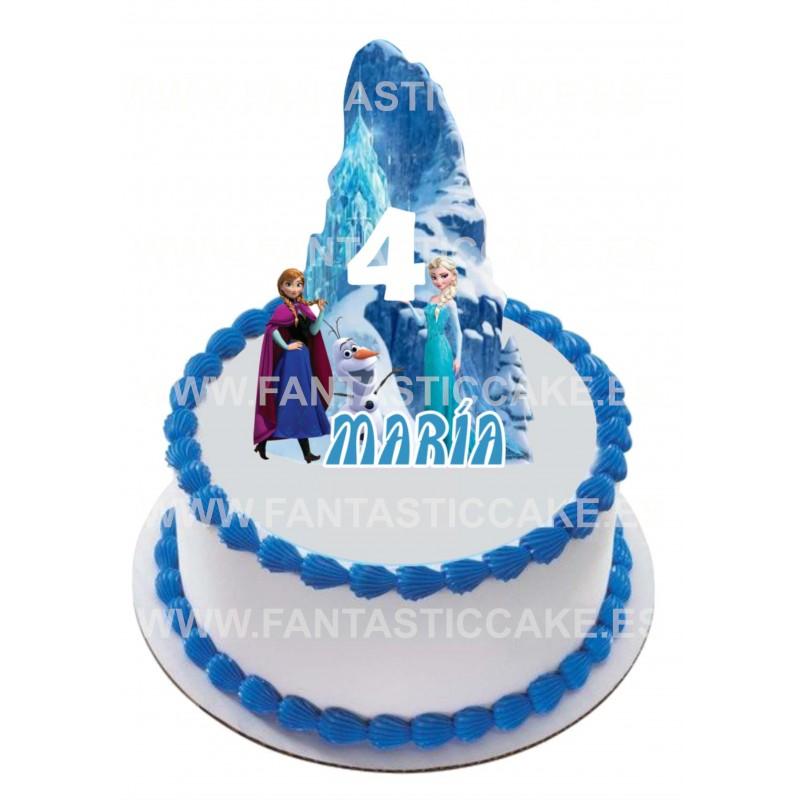 Topper Frozen Personalizado con nombre y edad