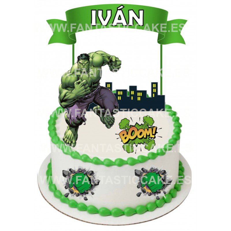 Toppers Hulk Personalizado
