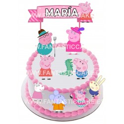 Toppers Peppa Pig Personalizado
