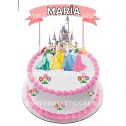Toppers Princesas Personalizado