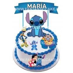 Toppers Lilo y Stitch 2 Personalizado