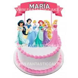 Toppers Princesas Disney Personalizado
