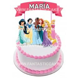 Toppers Princesas Disney 2 Personalizado