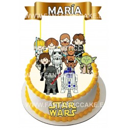 Toppers Star Wars Personalizado