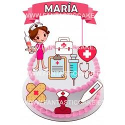 Toppers Enfermera Personalizado