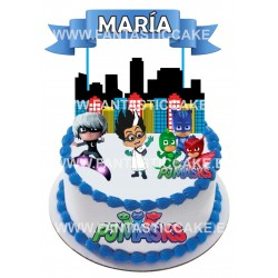 Toppers Pj Masks Personalizado