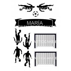 Oblea Galletas Primera Comunión niño Futbol Nº 30