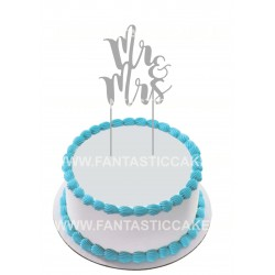 Topper para tarta Mr y Mrs