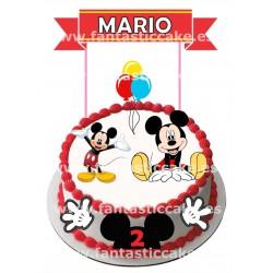 Topper Mickey Personalizado con nombre y edad
