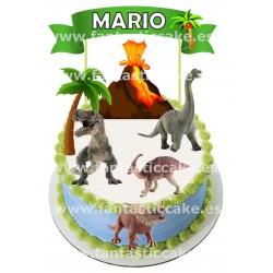 Topper Dinosaurios Personalizado con nombre