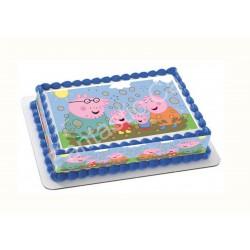 Papel de azúcar de Peppa Pig para tartas