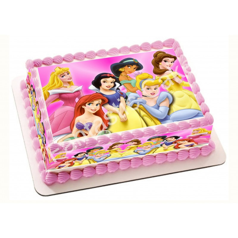 Papel de azúcar de Las Princesas para tartas