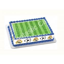 Papel de azúcar Real Madrid y Campo de Fútbol para tartas