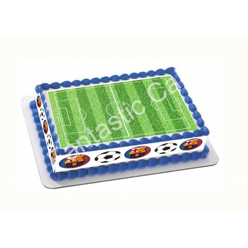Papel de azúcar FC Barcelona y Campo de Fútbol para tartas