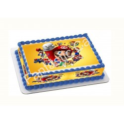 Papel de azúcar Mario Bross para tartas