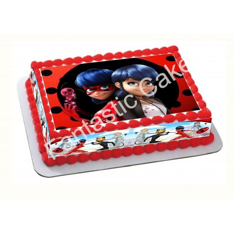 Papel de azúcar LadyBug para tartas