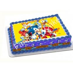 Papel de azúcar Sonic para tartas