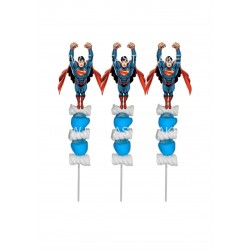 Brochetas para chuches (9 Uds) Superman