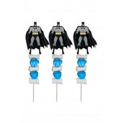 Brochetas para chuches (9 Uds) Batman