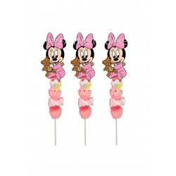Brochetas para chuches (9 Uds) Minnie bebe
