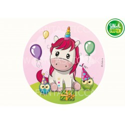 Oblea Unicornio globos para...