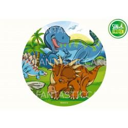 Oblea Dinosaurios para tarta Nº 974