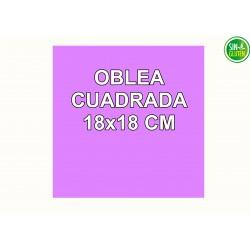Oblea Personalizada Cuadrada 18X18 cm