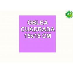 Oblea Personalizada Cuadrada 15X15 cm