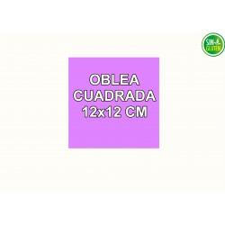 Oblea Personalizada Cuadrada 12X12 cm