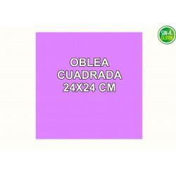 Oblea cuadrada Personalizada 24 CM