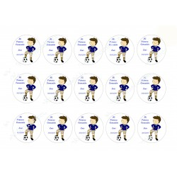 Etiquetas Comunión Niño Futbolista Nº 378 personalizada